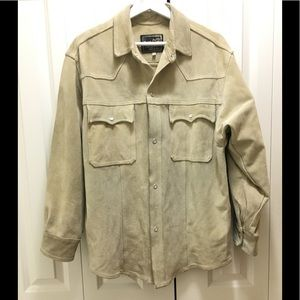 Vera Pelle Italy Suede Leather Shirt Jacket Mens M